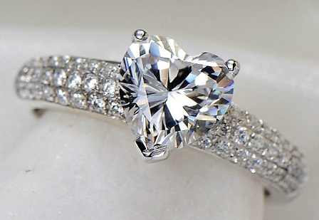 Heart Shaped 2- Carat Diamond Ring