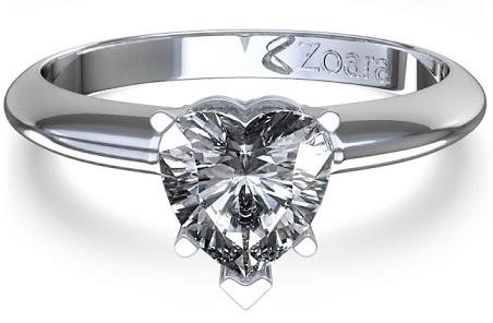 Heart shaped Diamond Ring Top