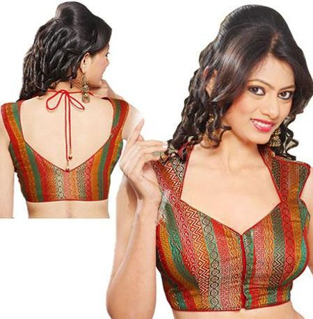 ed1f1e3f83fadb 9 Best Looking Broad Neck Blouse Designs at Back & Front