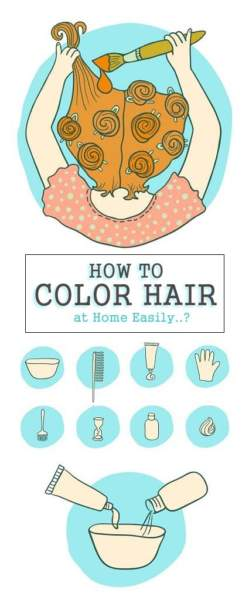 how to color hair at home