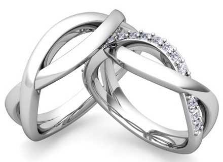 Infinity Couple Diamond Rings
