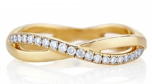 Infinity Gold-Diamond Engagement Ring