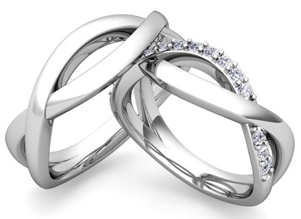 Infinity Platinum Couple Ring