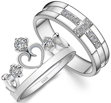 King and Queen Promise Couple Rings