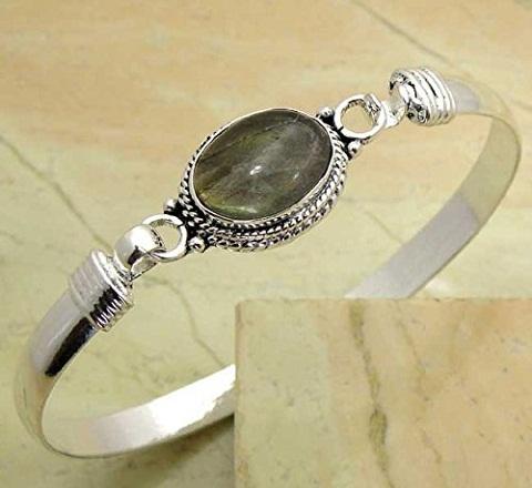 Labradorite Stone Bangle Design