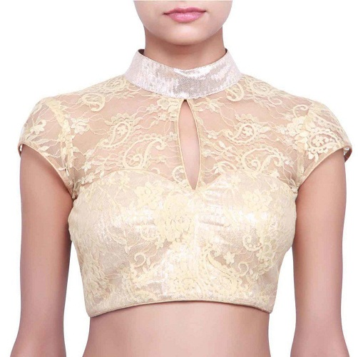 Lace Blouse with Collar Neck