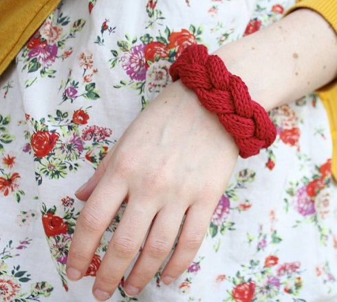 Lace and Cotton Thread Braided Bangles