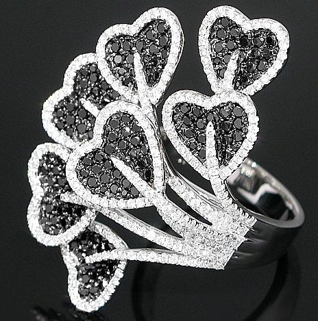 Latest Designer Heart veil Diamond Ring