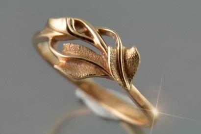 Leaf Design Engagement Ring