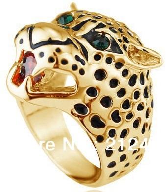 Leopard Designer Gold Ring for Men