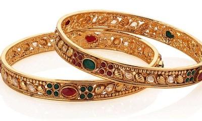 thin gold bangles