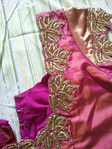 Lotus Design Maggam Work Blouses