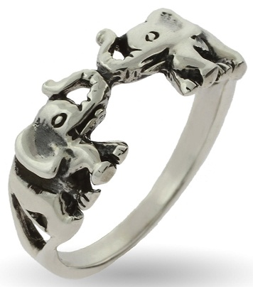 Lucky Elephant Sterling Silver Ring
