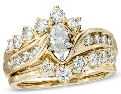 Marquise Diamond Bridal Rings Set