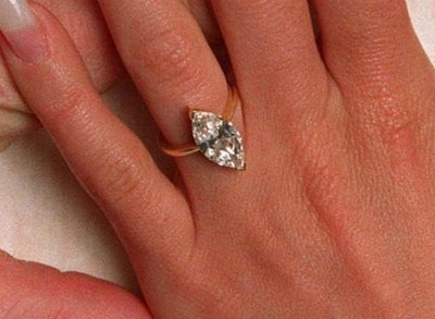 Marquise Shaped 2- carat Diamond Engagement Ring