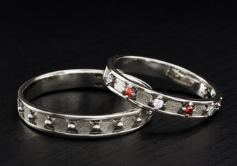 Matching Wedding Couple Rings Set