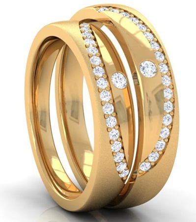 Matching design couples gold rings