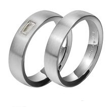 Matte finish- Platinum Couple Ring