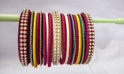 Multi-Coloured Handmade Bangles