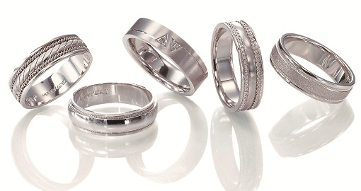 Multiple Platinum Engagement Rings