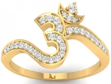 Om Designer Gold Ring