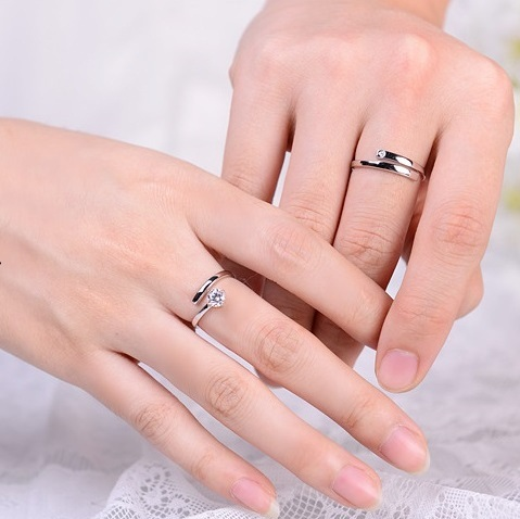 Open Ends Couples Engagement Rings