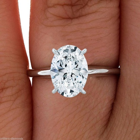 Oval Cut 2-Carat Diamond Ring