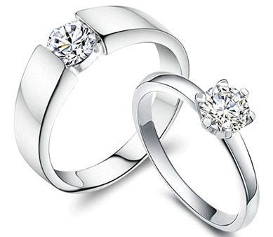Pair Diamond Engagement Ring