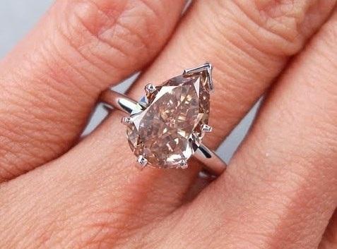 Pear Shape 3 Carat Diamond Ring