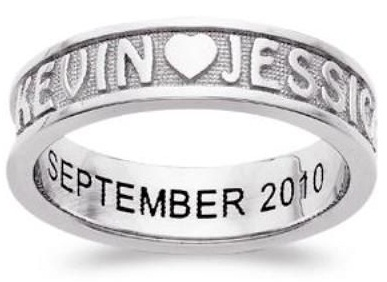 Personalized Couple Promise Ring