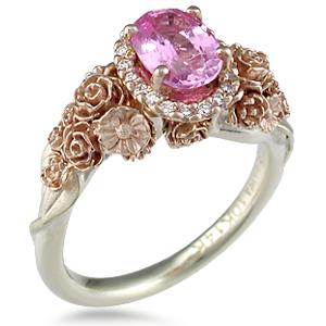 pink diamond wedding ring - Pink Diamond Wedding Ring