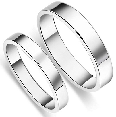 Plain Band Style Ring for Couples