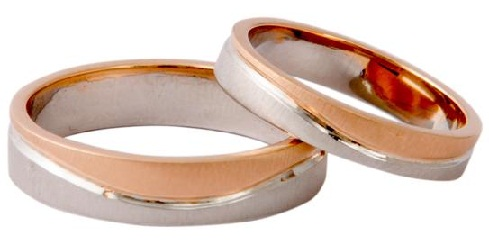 Platinum-Rose Gold Couple Ring