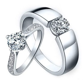 Promise Couple Diamond Rings