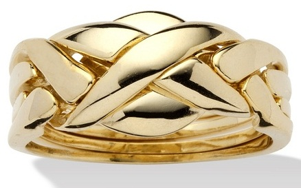 Puzzle Style Gold Rind for Girls