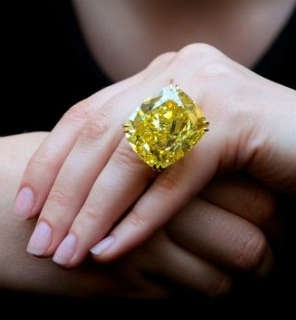 Rare Yellow Diamond Big Diamond Ring