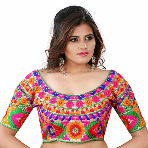 Readymade Colorful Saree blouse