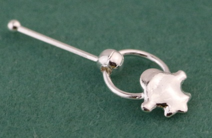 Real Silver Nose Ring