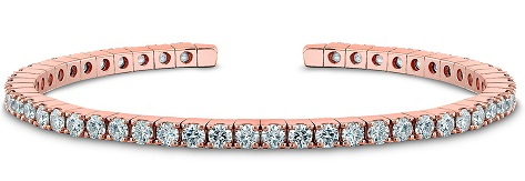 Rose Gold Diamond Bangle Design