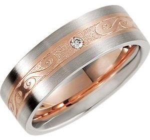 Rose Gold Diamond Wedding Band for Men