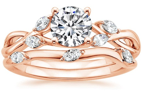 Rose Gold Princess Cut Diamond Ring