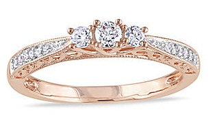 Rose Gold Promise Rings