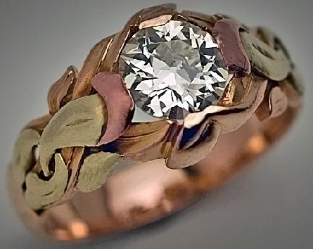 Rose Gold and Diamond Ring for Men