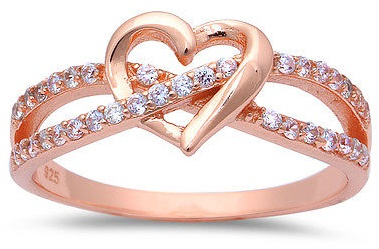 Rose Gold couple Promise Rings