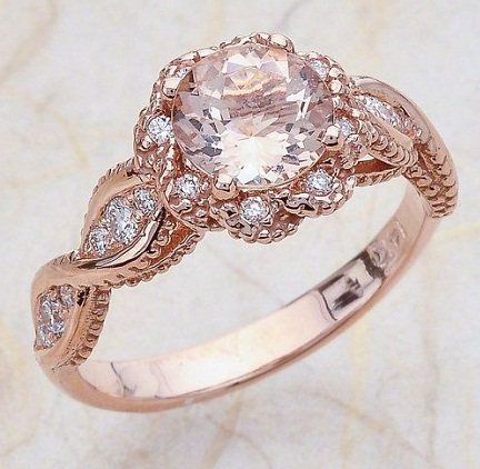 Rose gold eye design vintage ring