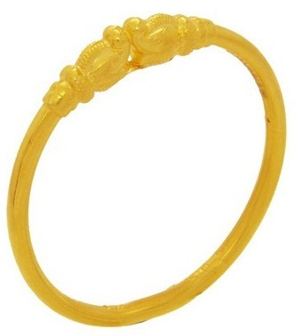 Rounded Thin Gold Kada