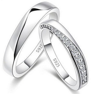 Row Diamonds-Platinum Couple Ring