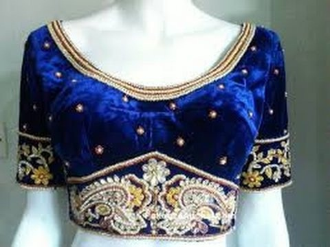 Royal Blue velvet Embroidered