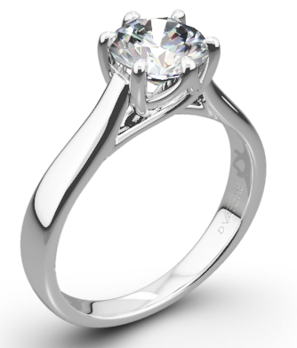 Royal Crown Shaped Solitaire Engagement Ring