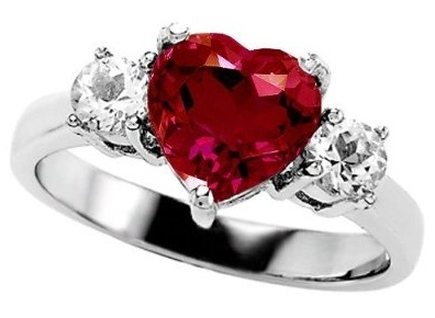 Ruby Heart Diamond for Valentine Day